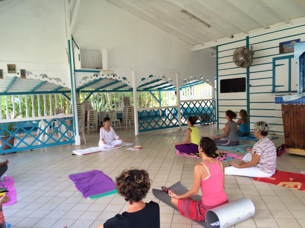Atelier de yoga aux Saintes - Novembre 2015